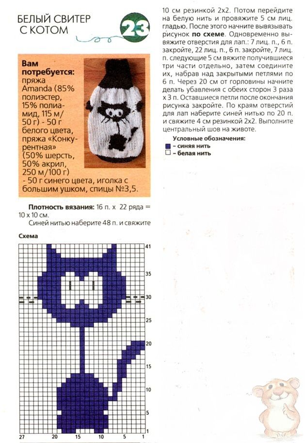 Шапка кошка крючком для девушек и женщин со схемой вязания
