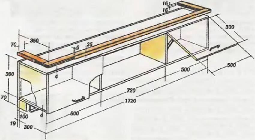Полка из фанеры своими руками: настенная, подвесная, этажерка-шкаф (фото)