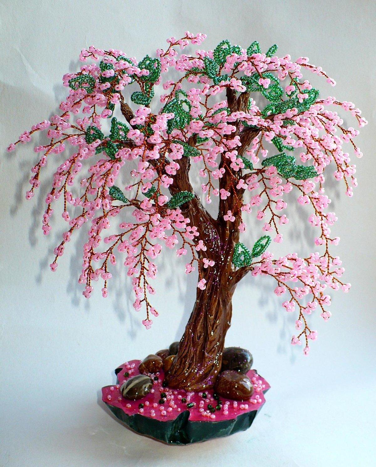 Бисероплетение - деревья: мастер-классы для начинающих, этапы работы и схемы