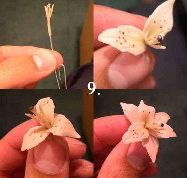 Цветы для декора из полимерной глины