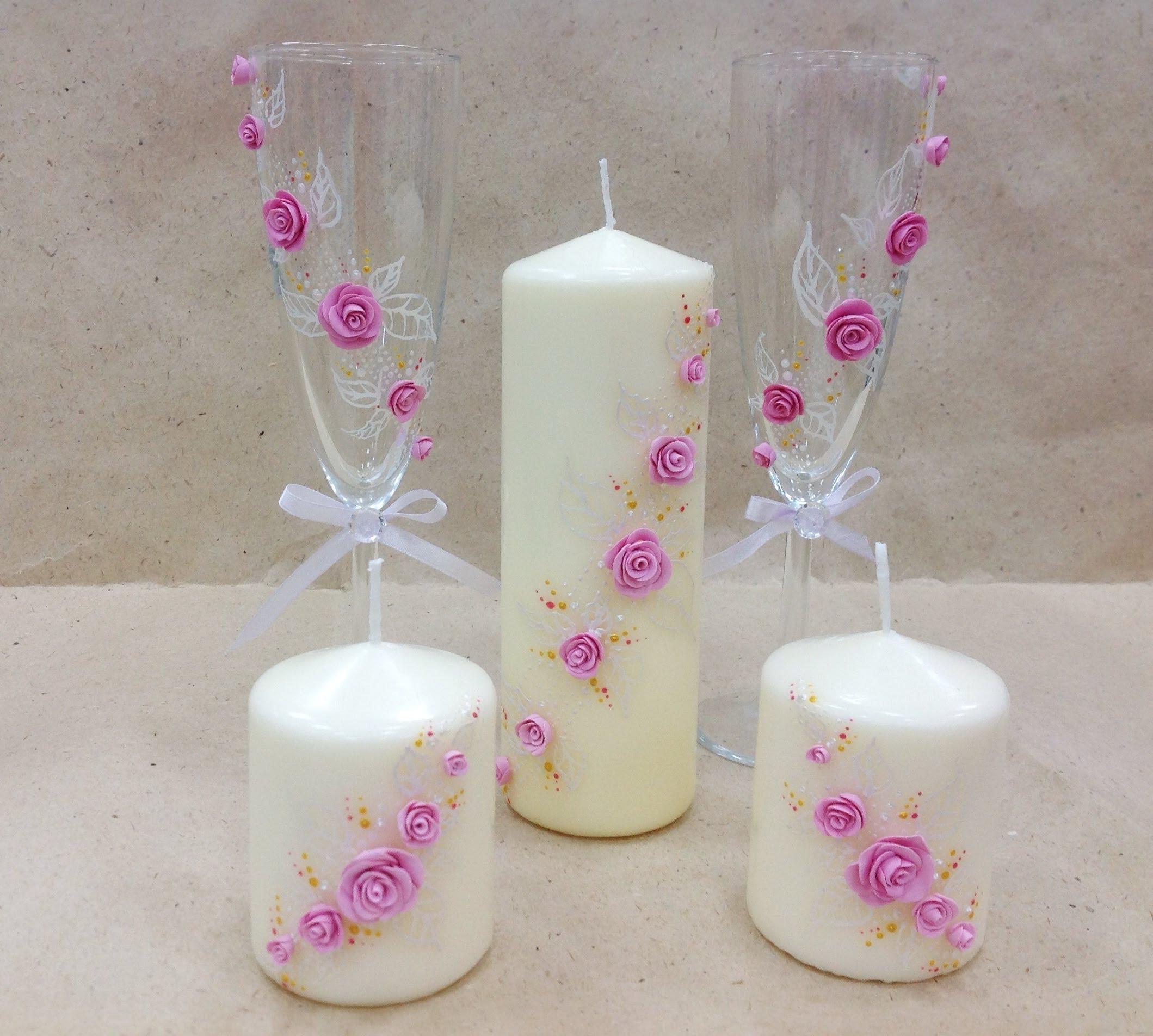 Декор и оформление свечей своими руками