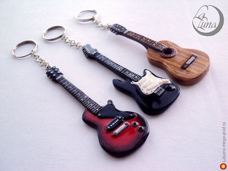 Как сделать гитару из полимерной глины / мастер-класс