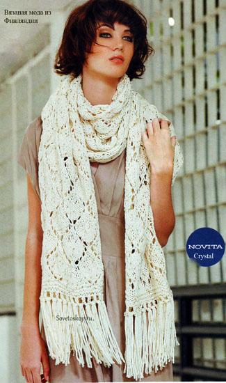 Шарф спицами — вяжем вместе с мастерами красивый и теплый шарф. инструкция + 155 фото