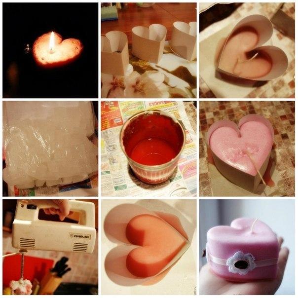 Свеча ко Дню Святого Валентина