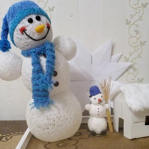 """Как сделать снеговика из ниток: два легких способа создать новогоднее настроение — журнал """"рутвет"""""""