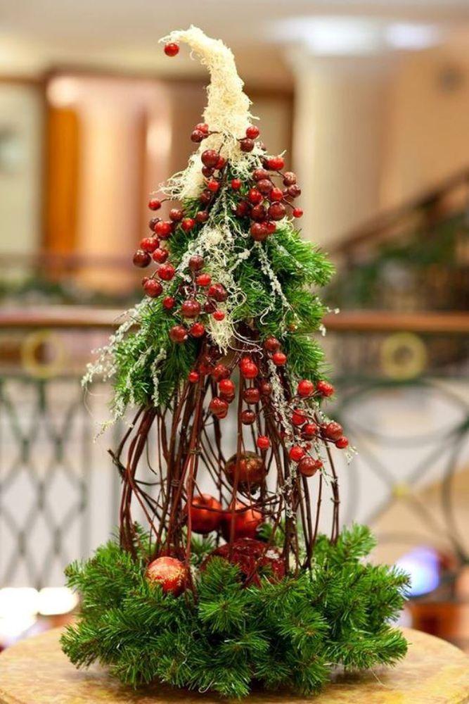 Как сделать новогоднюю композицию своими руками: мастер-класс. новогодний декор своими руками - елка на флористическом оазисе