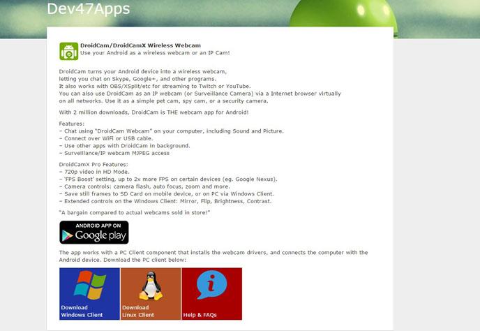 Телефон на android как беспроводная веб-камера с микрофоном для skype | it-handbook.ru