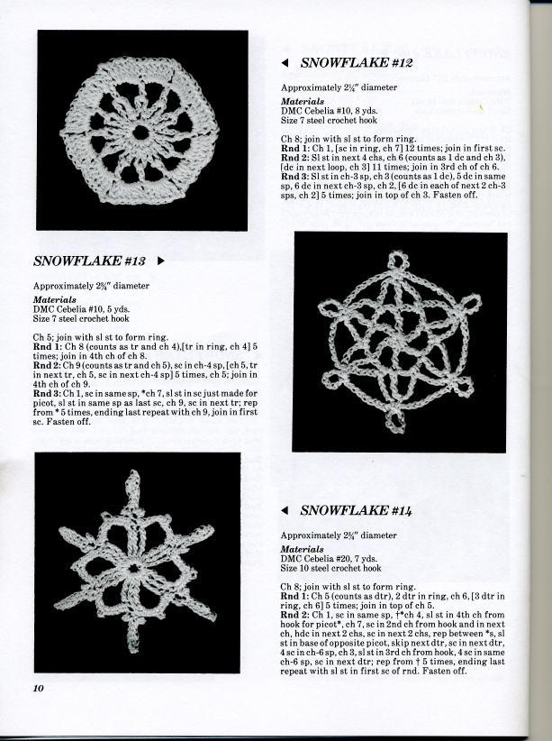 Снежинки крючком - схемы с описанием для начинающих