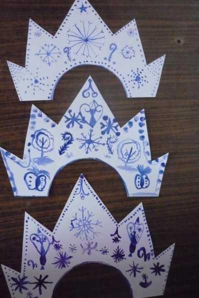 Гардероб мастер-класс новый год аппликация моделирование конструирование шитьё корона снежной королевы бисер картон кружево ленты проволока ткань