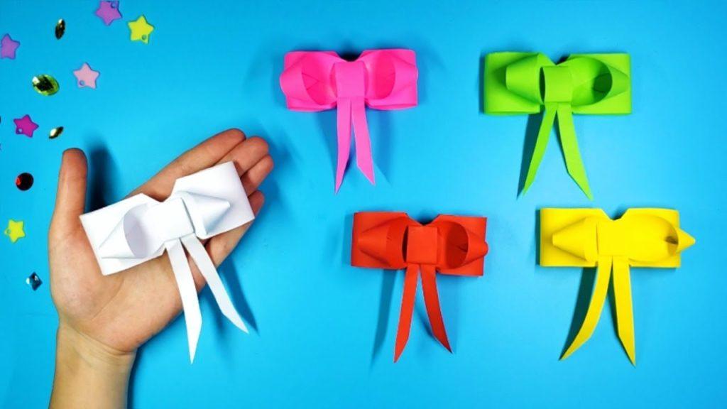 Оригами бантик из бумаги: пошаговая инструкция с видео и схемой