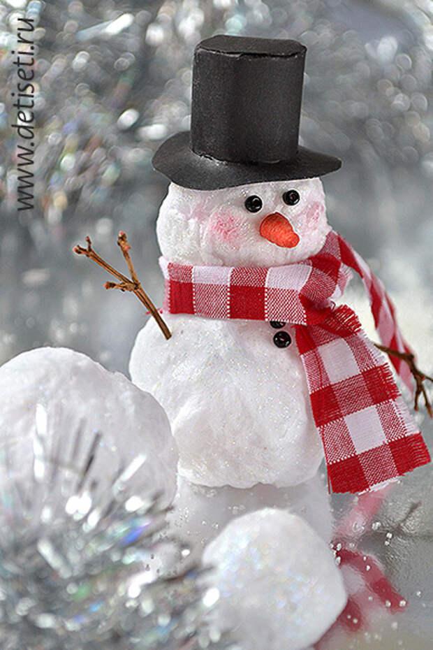 Конспект занятия по аппликации из ваты на цветном картоне «веселый снеговик». воспитателям детских садов, школьным учителям и педагогам - маам.ру
