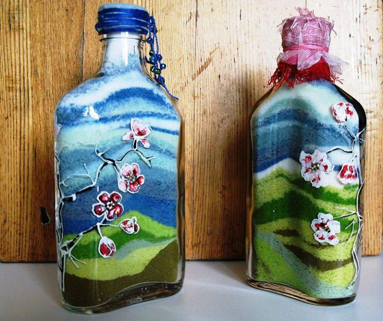 Украшение бутылок: мастер-класс оформления и варианты дизайна бутылок (120 фото)