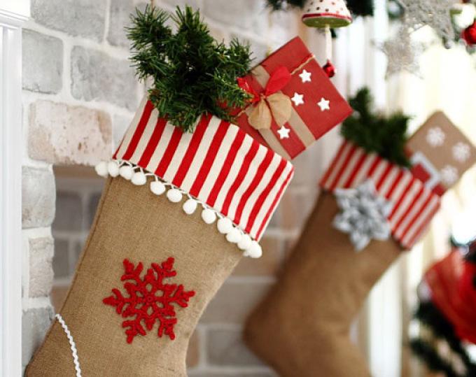 Рождественский чулок своими руками: идеи, мастер-класс