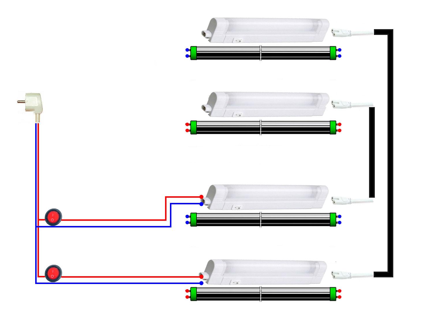 Переделка люминесцентного светильника в светодиодный