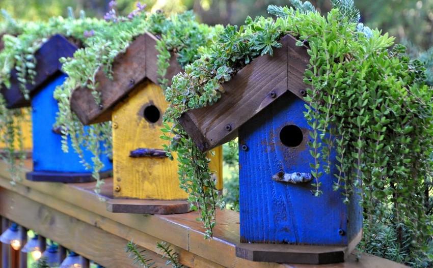 Красивые скворечники для птиц — пошаговое описание как построить простой и красивый скворечник своими руками (95 фото)