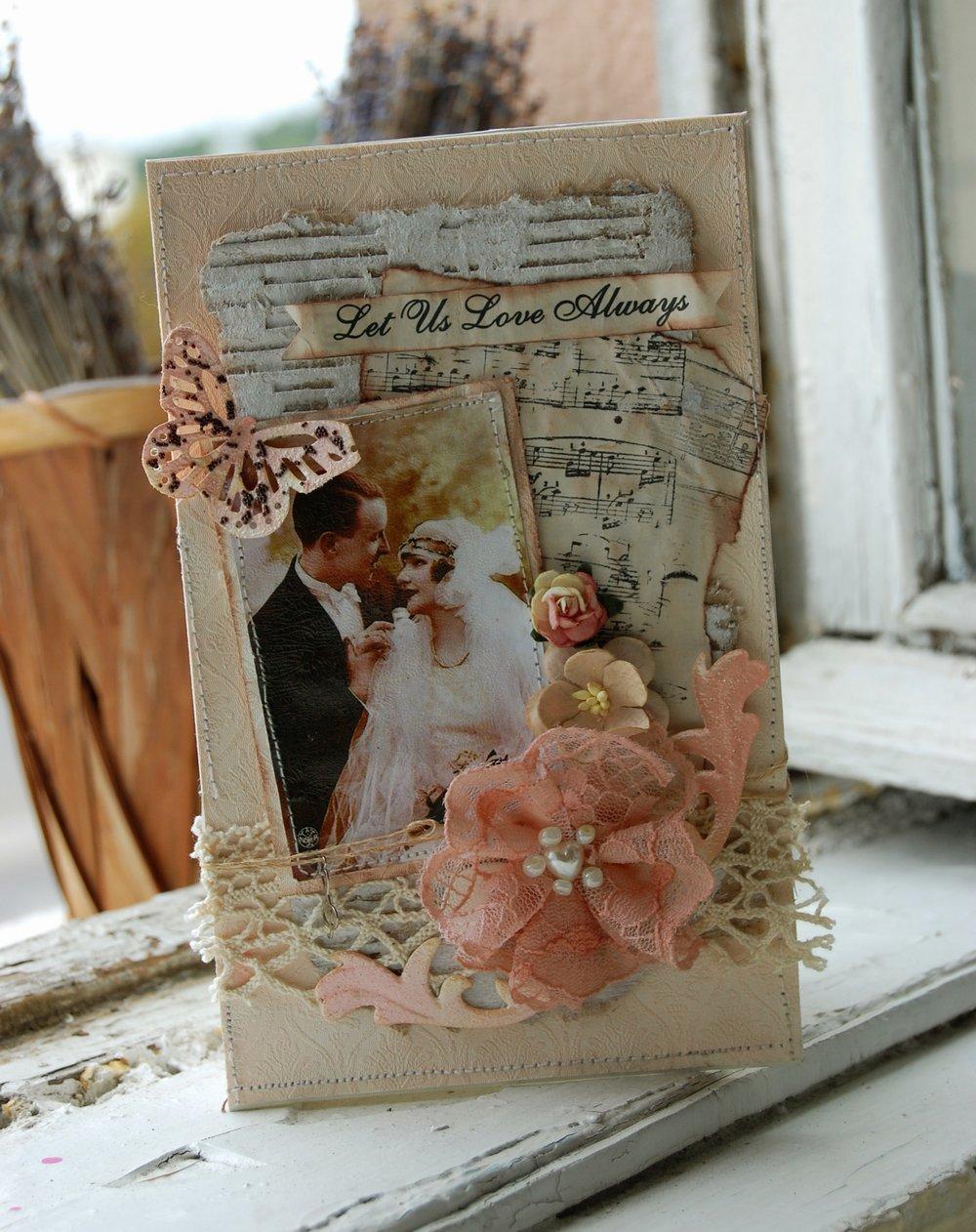Нежная открытка на свадьбу своими руками. мастер-класс