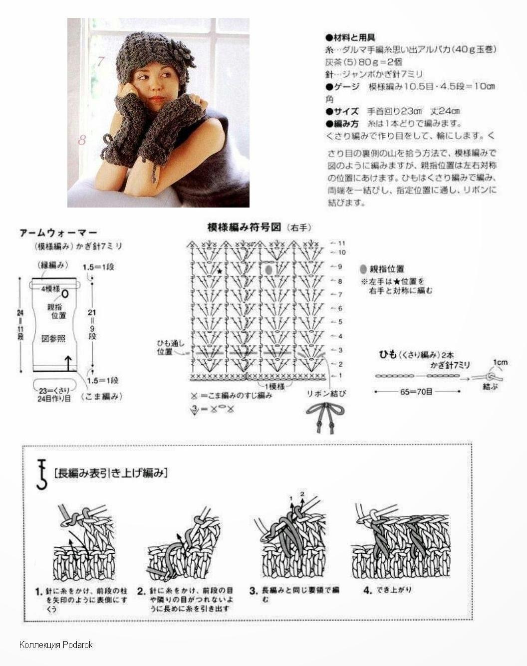 Как связать митенки крючком: схемы с описанием, фото